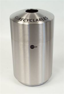 20-Gallon Stainless Steel Top Load Recyclables Bin