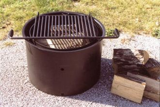 """18"""" High ADA Compliant Fire Ring With Grate"""