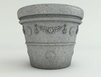 Ash Granite Garland Planter