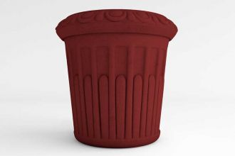 Grecian Round Self Watering Planter solid colors