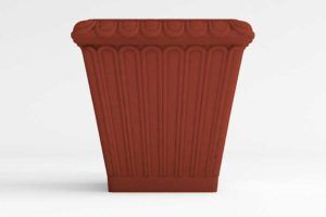 """Grecian Square Self Watering Planter solid colors 15 1/2"""" x 14 3/4"""" Tall"""