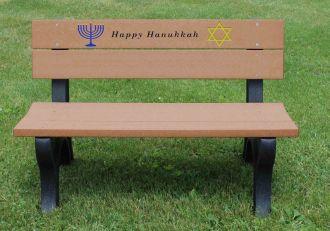4 Foot Hanukkah Holiday Bench