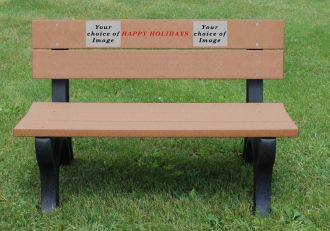 4 Foot Happy Holiday Bench