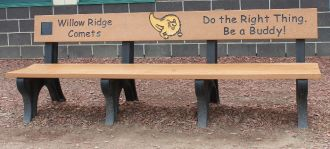 8-Foot Landmark Memorial Park Bench