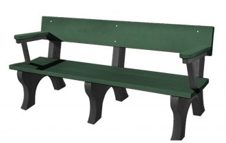 6 Foot Landmark Bench with Arm Rest