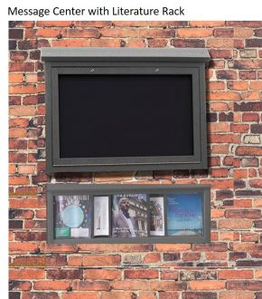 Message Center Medium One Sided Wall Mount