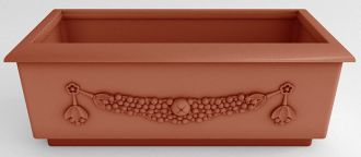 """Roma Rectangular Planters Solid Colors With Garland 49.25"""" Long"""