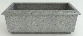 """Self-Watering Roma Rectangular Granite Planters Without Garland 49.25"""" Long"""