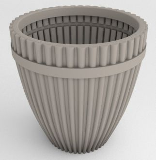 """Self-Watering Fluted Vase Planter Solid Color 18"""""""