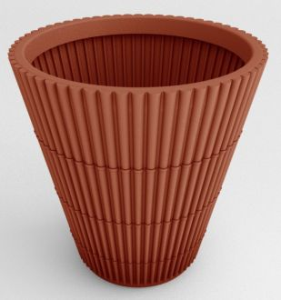 """Self-Watering Bamboo Planter 23"""" Solid colors"""