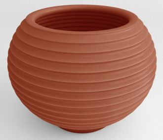 """Self-Watering Grooved Planter Solid Color 22"""""""