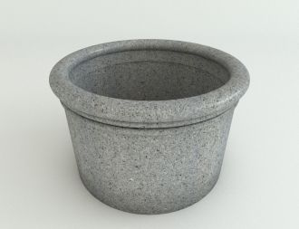 """Self-Watering Straight Sided Cylinder Planters Granite Colors 18"""" thru 33"""""""