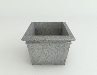 """Self-Watering Square Footed Planters Granite Colors 17"""" thru 29"""""""
