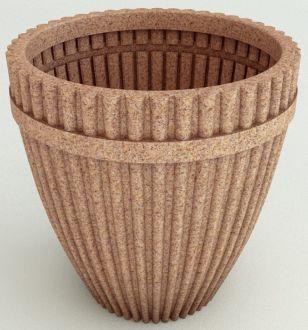 "Self-Watering Fluted Vase Planter Granite Color 18"""