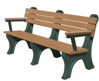 6 Foot Classic Park Bench with Arm Rest