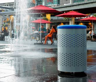 Portland Recycle Receptacle Blue