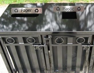 36-Gallon Steel Top Dual Recycling Receptacle