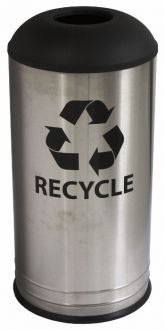18-Gallon Stainless Steel Recycling Bin and Trash Can