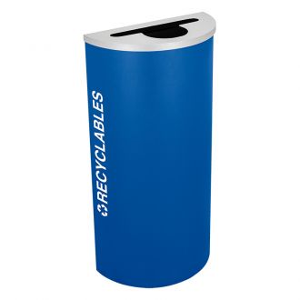 8-Gallon Modular Half Round Recycle Bin, RECYCLABLES