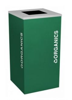 24-Gallon Modular Square Recycle Bin, Cans and Bottles