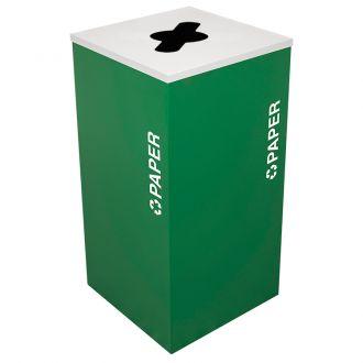 24-Gallon Modular Square Recycle Bin, Paper