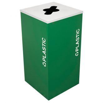 24-Gallon Modular Square Recycle Bin, Plastic