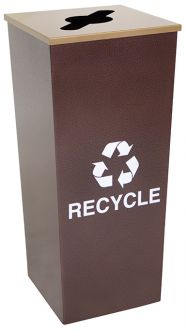 18-Gallon Tapered Single Bin Recycling Receptacle