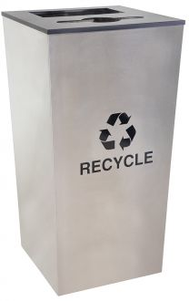 34-Gallon Tapered Combo Recycle Receptacle