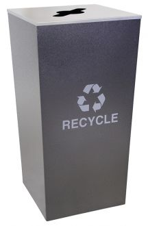 34-Gallon Tapered Co-Mingle Recycling Receptacle