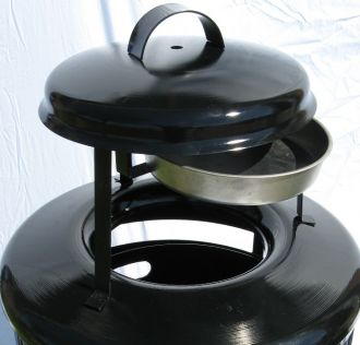 Steel Replacement Top with Removable Ash Urn
