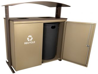 Two Stream Outdoor Receptacle Combo
