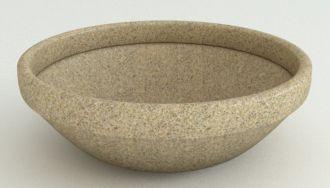 """Self-Watering Low Bowl Planters Granite Colors 24"""" thru 43"""""""