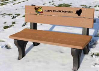4 Foot Thanksgiving Holiday Bench