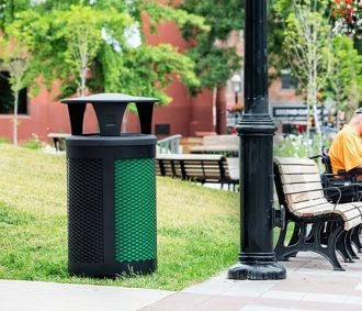 Toronto Multi Stream Recycle Outdoor Receptacle