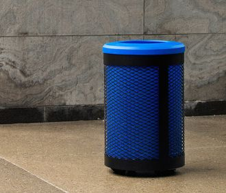 Toronto Recycle Receptacle Blue