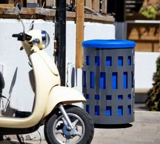 Vancouver Recycle Receptacle Blue