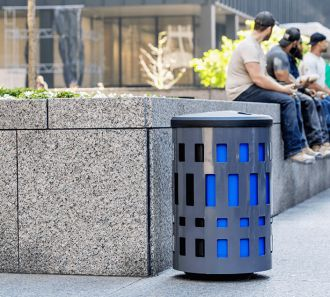 Vancouver Multi Stream Recycle Outdoor Receptacle