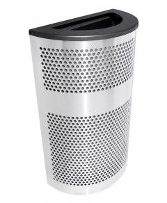 Venue Collection Half Round Stainless Steel Waste Receptacle