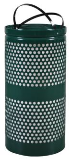 10-Gallon Perforated Trash Receptacle