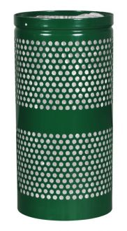 34-Gallon Perforated Trash Receptacle